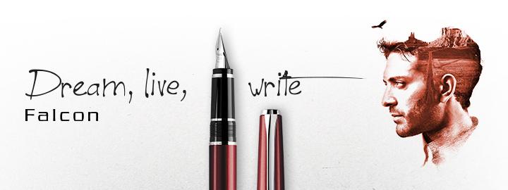 Pilot - Fine Writing - Falcon Dark red