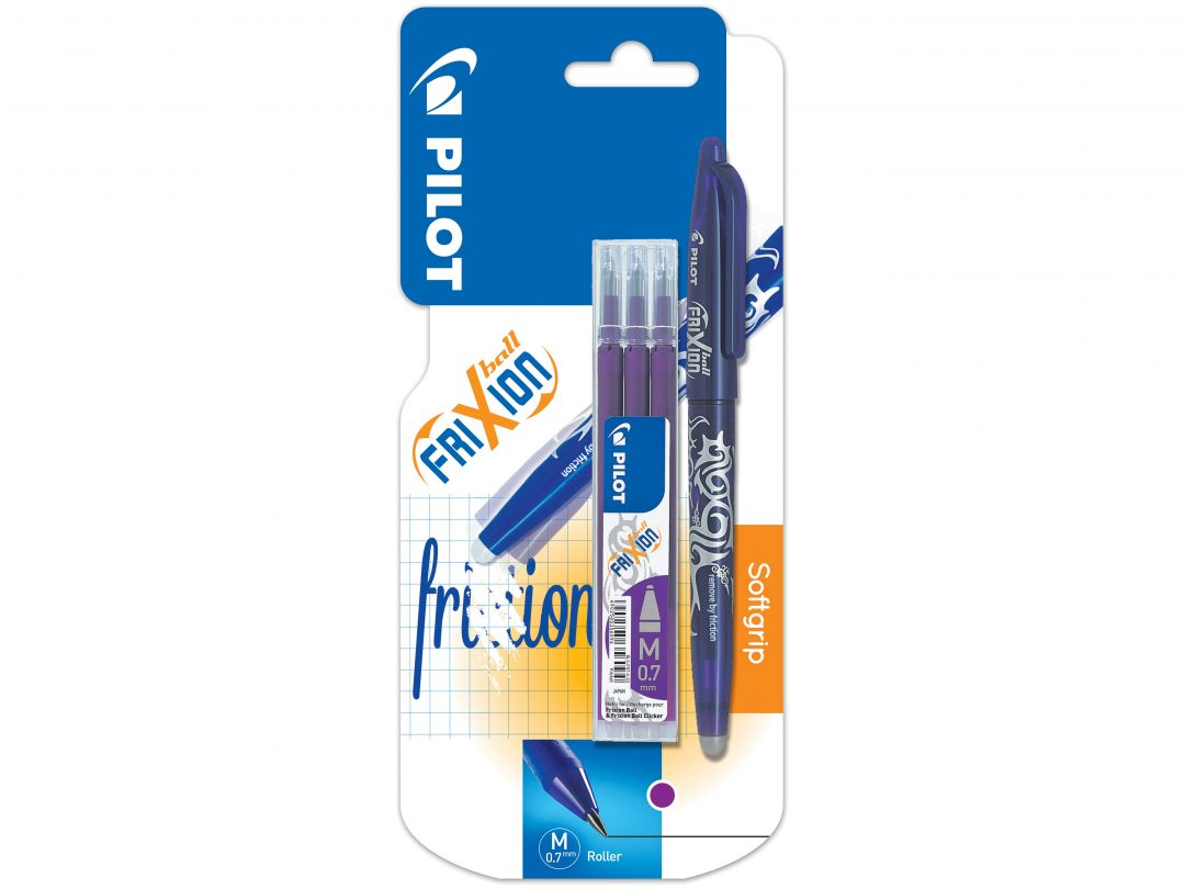 Blister FriXion Ball 0.7 Vi - Etui 3 Recharges