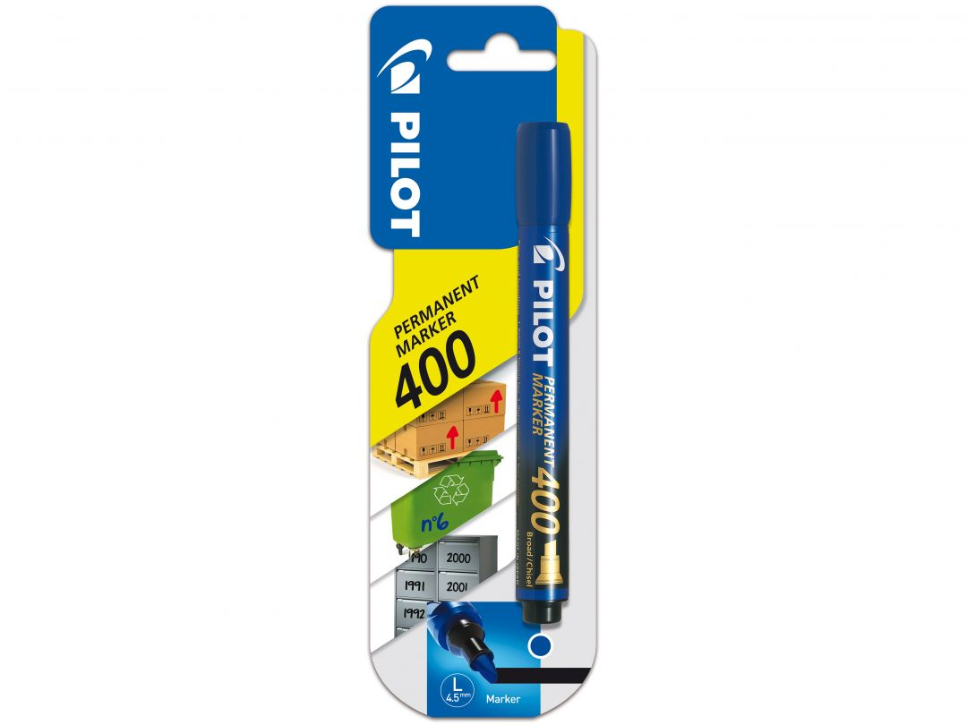 Blister Permanent Marker 400 Large Bleu