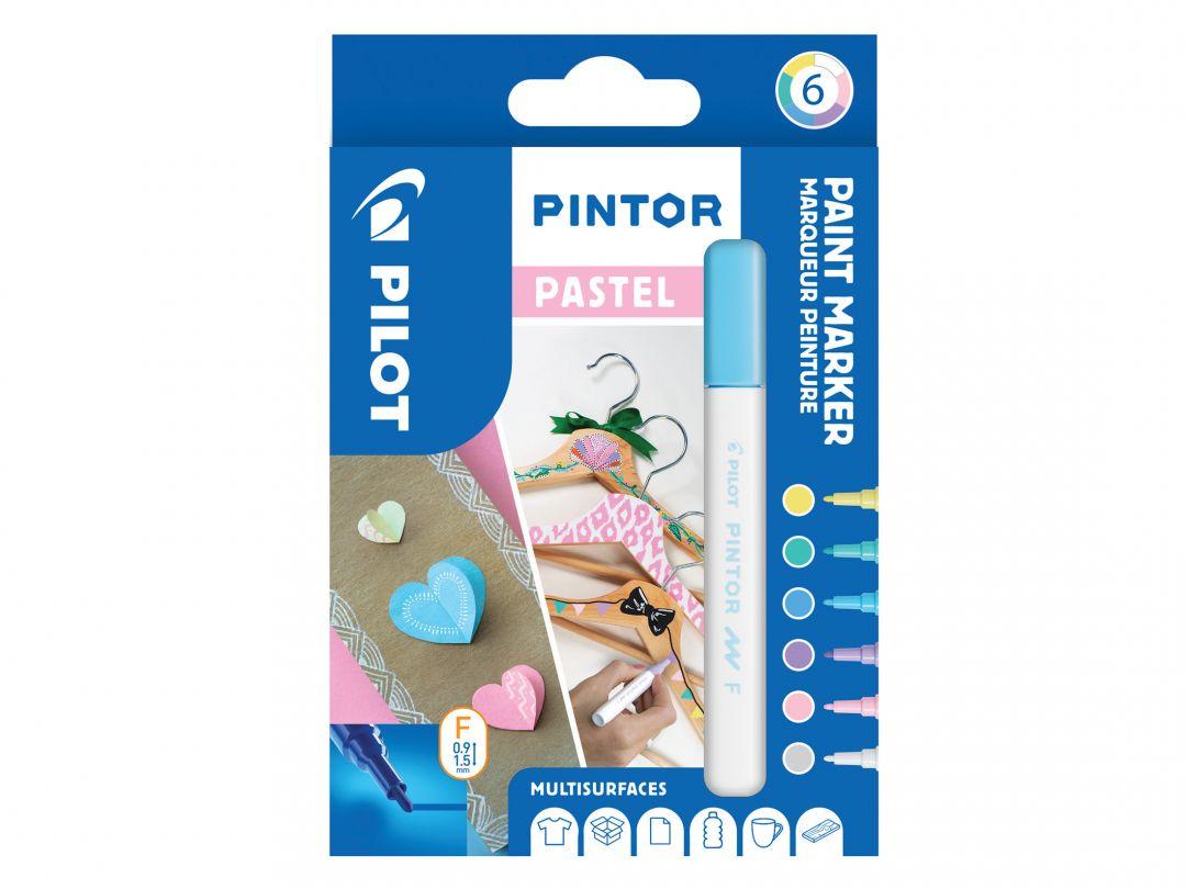 Pilot Pintor - Pochette de 6 - Pastel - Pointe Fine