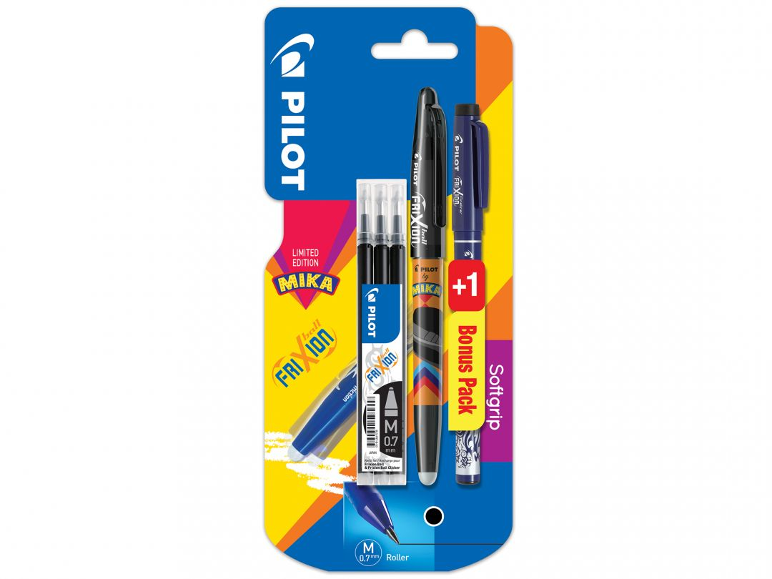 Blister FriXion Ball 0.7 Mika N - set 3 recharges + FriXion Fineliner