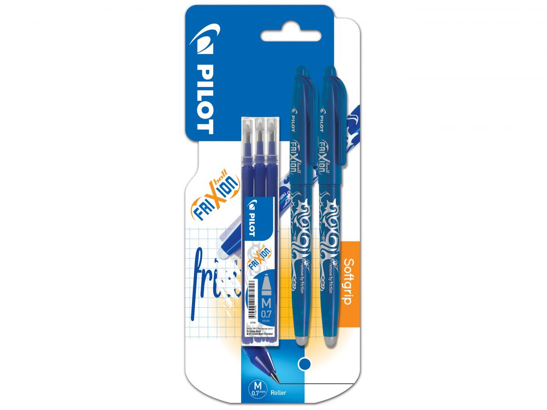 Blister 2 FriXion Ball 0.7 Bleu - Etui 3 Recharges