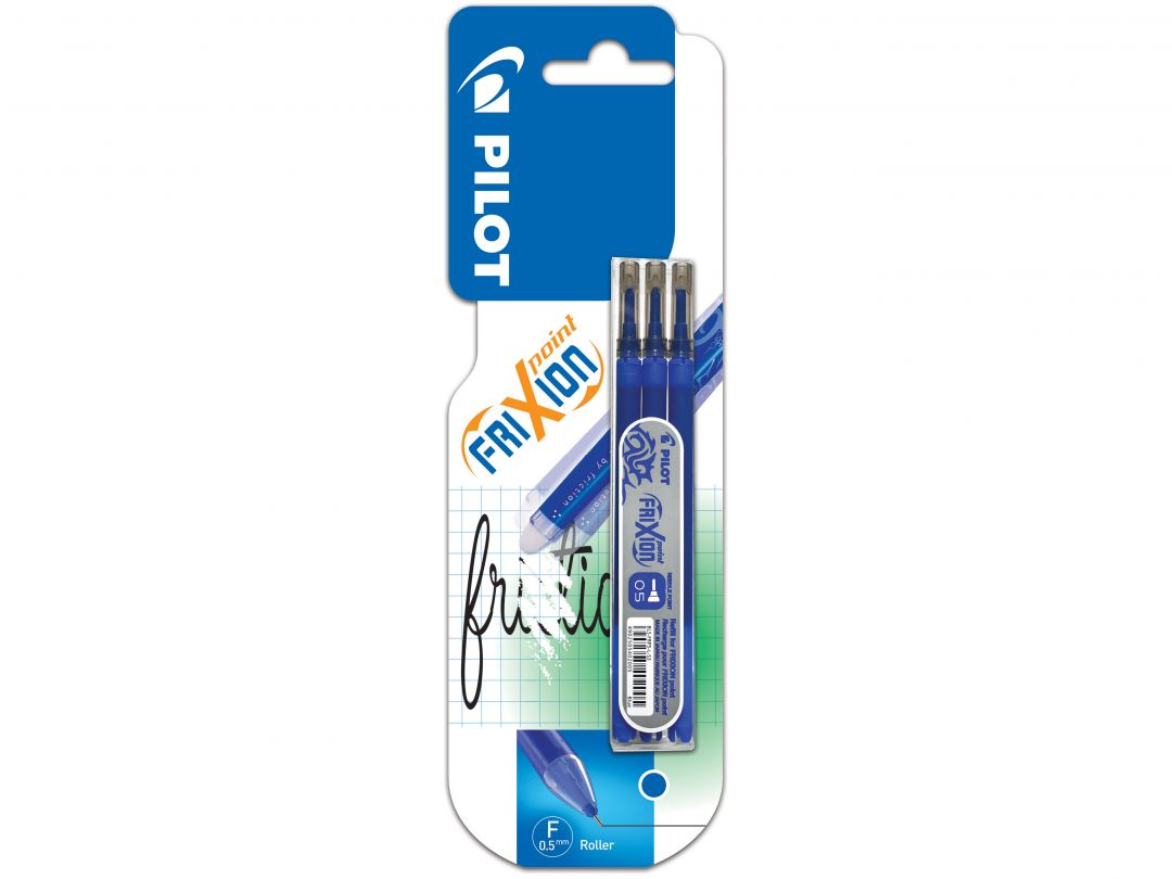 Blister Etui 3 Recharges FriXion Point 0.5 Bleu