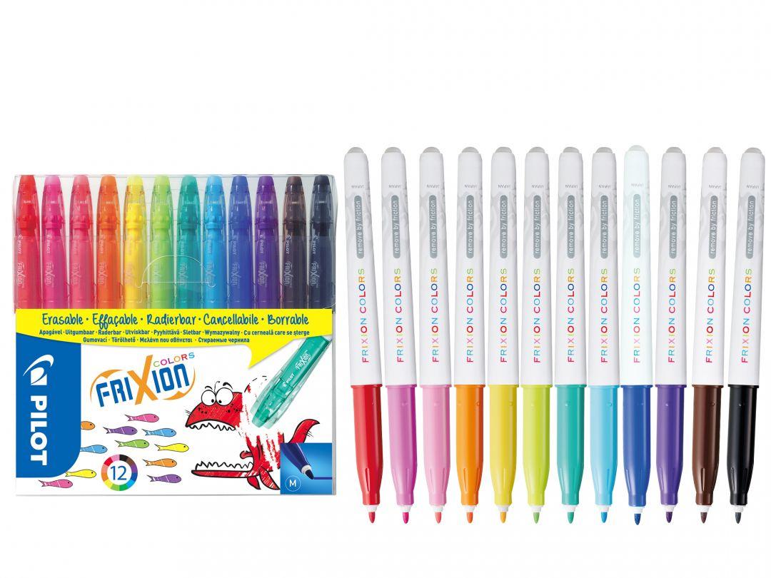FriXion Colors - Set de 12 - Couleurs assorties - Pointe Moyenne