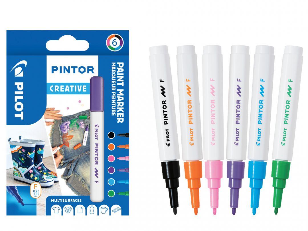Pilot Pintor - Pochette de 6 - Fun - Pointe Fine