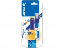 Blister Etui 3 Recharges FriXion 0.7 Bleu - Gomme