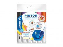 Pilot Pintor - Pochette de 6 - Fun - Pointe Moyenne