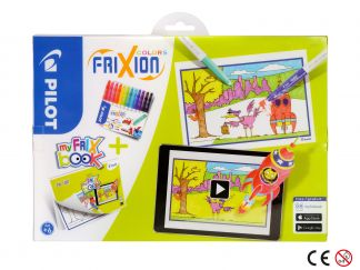 FriXion Colors - Feutre - Set FriX Book x 12 - Pointe Moyenne
