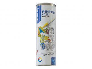 Pilot Pintor - Kit créatif - Poster Géant - Couleurs assorties - Pointe Fine