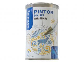 Pilot Pintor - Kit créatif - Boule de Noël - Couleurs assorties - Pointe Fine
