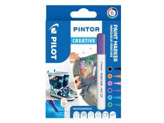 Pilot Pintor - Pochette de 6 - Fun - Pointe Extra Fine
