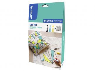 Pilot Pintor - Kit Créatif - Housse de Coussin - Couleurs assorties - Pointe Fine / Large