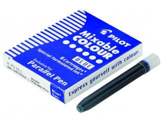 Parallel Pen - Boîte de 6 cartouches - Bleu - Encre liquide