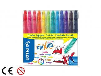 FriXion Colors - Feutre - Set de 12 - Couleurs assorties - Pointe Moyenne