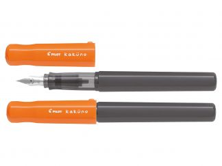 Kaküno - Stylo plume - Orange et Gris - Begreen - Plume Moyenne