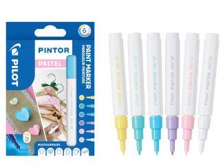 Pilot Pintor - Pochette de 6 - Pastel - Pointe Extra Fine